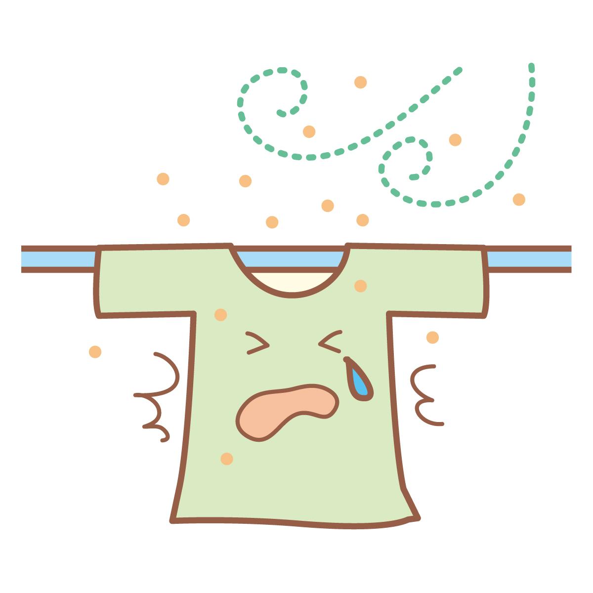 洗濯 花粉 物 症