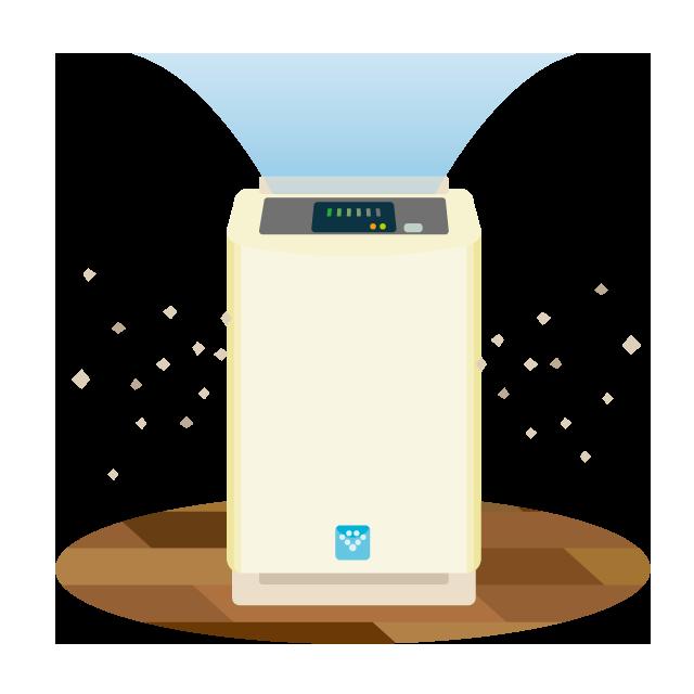 専用噴霧器で空間除菌消臭